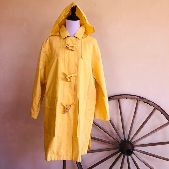 Burberrys Other - BURBERRYS Yellow Nautical Duffle Trench Coat RARE!